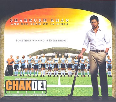 A poster of Chak De! India