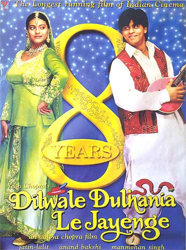 A poster of Dilwale Dulhania Le Jayenge