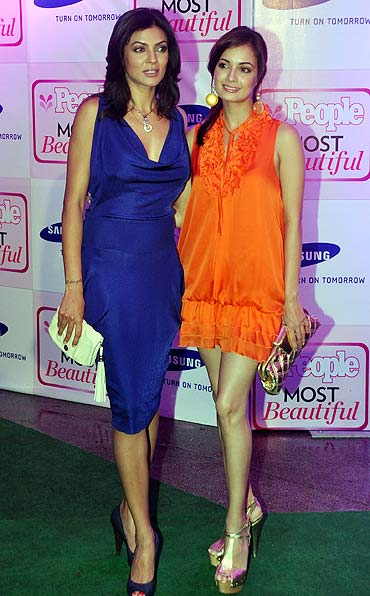 Sushmita Sen and Dia Mirza