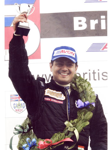 Ajith wins third place at the British F3 at Donnigton Park