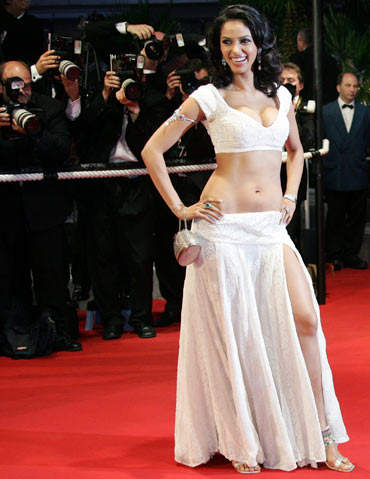 Mallika Sherawat in Cannes, 2005