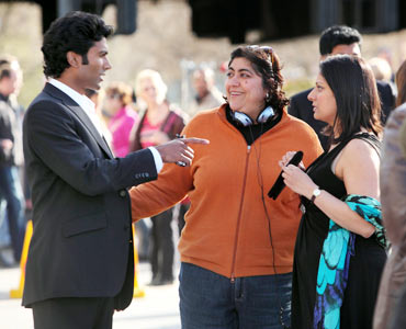 Sendhil, Gurinder Chadha and Goldy Notay