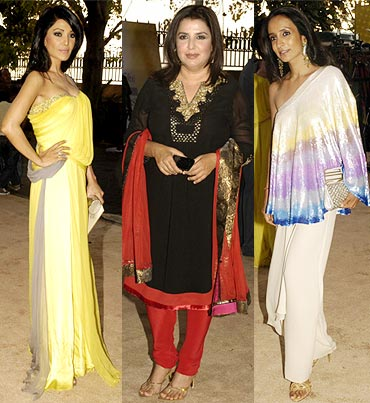 Koena Mitra, Farah Khan and Suchitra Pillai