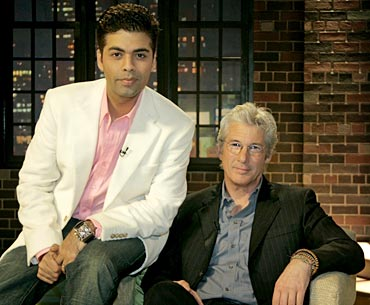 Karan with Richard Gere in a previous season