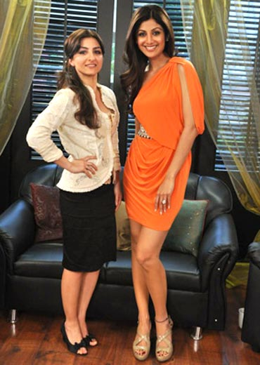 Soha Ali Khan and Shilpa Shetty