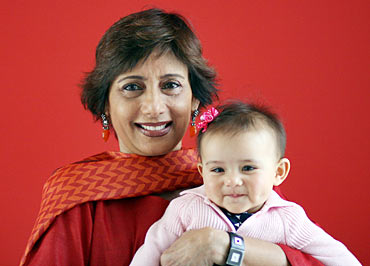 Anita Patil Deshmukh with grand-daughter Zoe-Smita