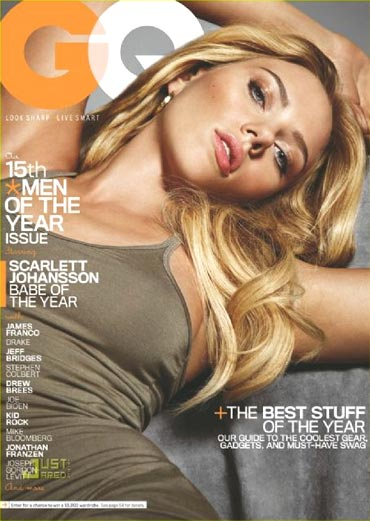 Scarlett Johansson on the cover of GQ