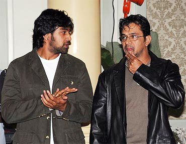 Chiranjeevi Sarja and Arjun