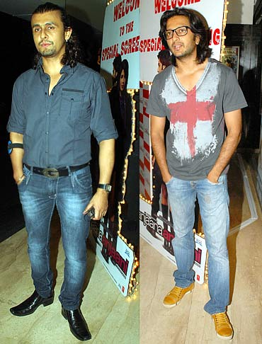 Sonu Nigam and actor Riteish Deshmukh