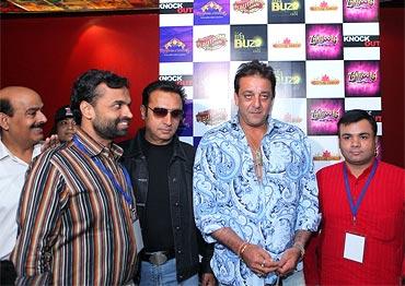 Spotted: Sanjay Dutt, Gulshan Grover in Delhi - Rediff.com ...
