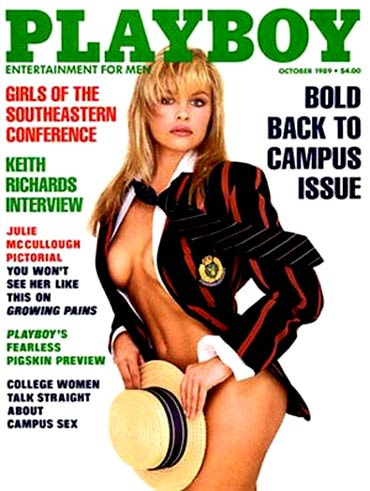 Pamela Anderson on the October 1989 cover of Playboy