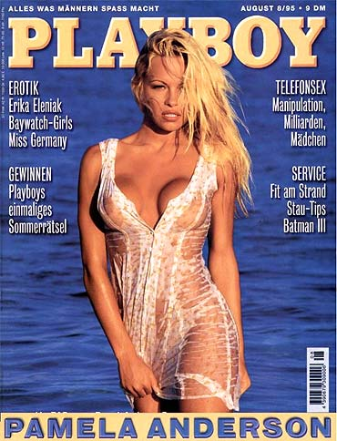 Pamela Anderson on the August 1995 issue of Playboy