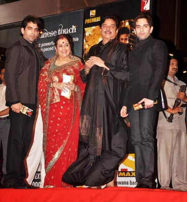 Shatrughan Sinha with wife Poonam and sons, Luv and Kush