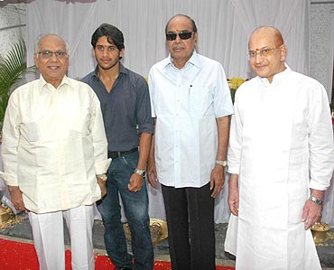 D Ramanaidu (third from left)