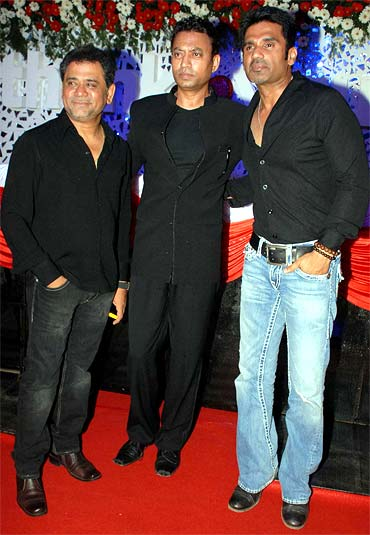 Anees Bazmee, Irrfan Khan and Suniel Shetty