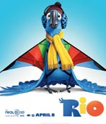 A movie poster of Rio