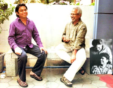 With mentor and friend Mani Ratnam. March 2010. Their Collaboration began in 1991 with AR's first film Roja, released in 1992
