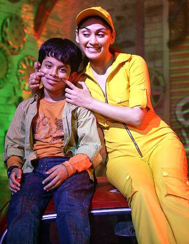 Darsheel Safary with Manjari Phadnis in Zokkomon