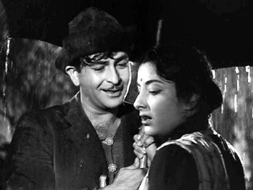 A scene from Shree 420