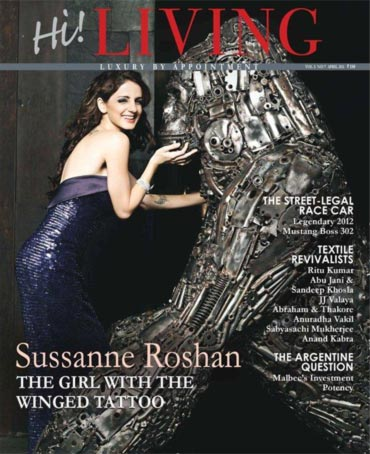 Sussanne Roshan on Hi! cover