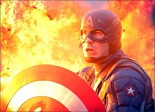 A scene from Captain America