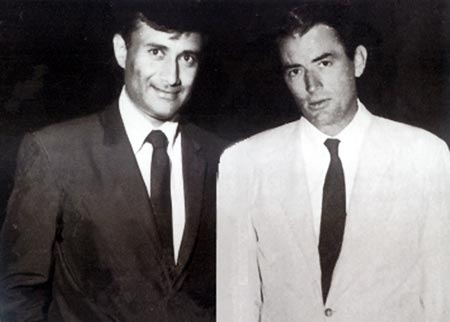 Dev Anand with Gregory Peck, who influenced his style