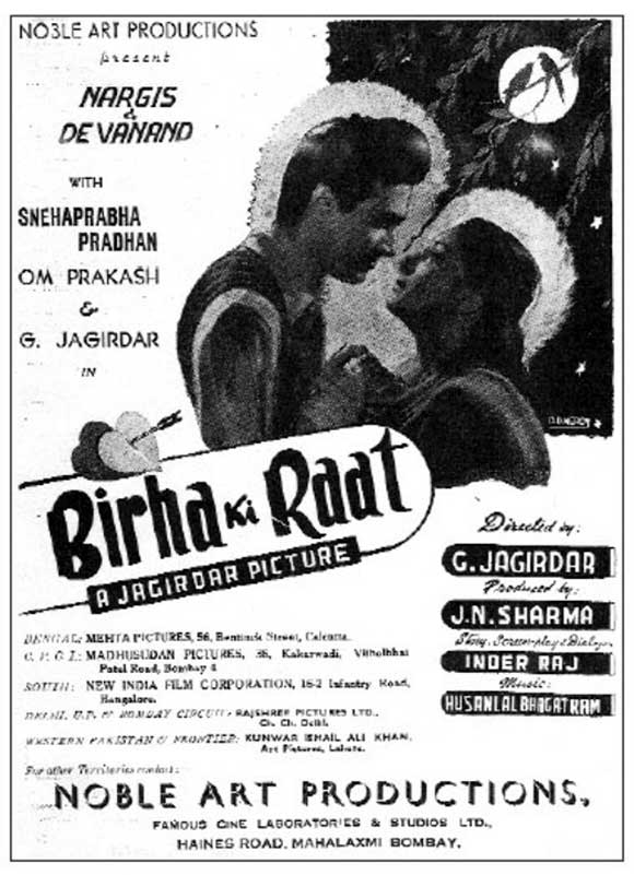 Movie poster of Birha Ki Raat