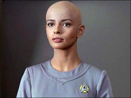 Resultado de imagen de bald woman star trek