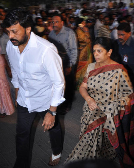 Chiranjeevi and wife Surekha