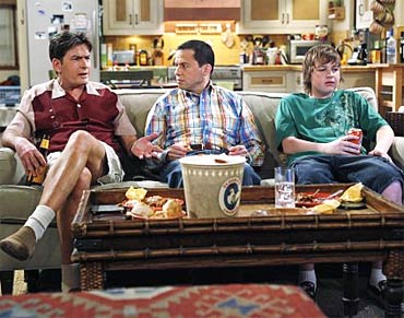 A scene from Two and A Half Men
