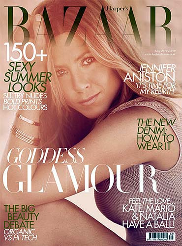Jennifer Aniston on the cover of Harper's Bazaar