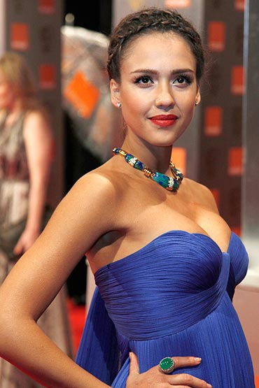 Women In Blue Make The Baftas Look Hot - Rediffcom Movies-5875