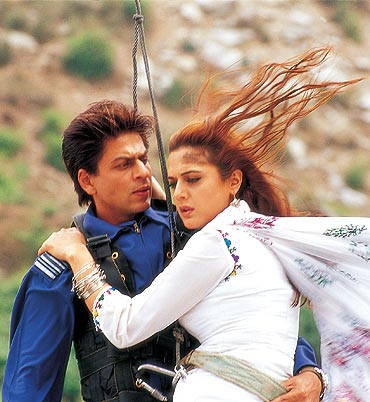 Shah Rukh Khan and Preity Zinta in Veer-Zaara