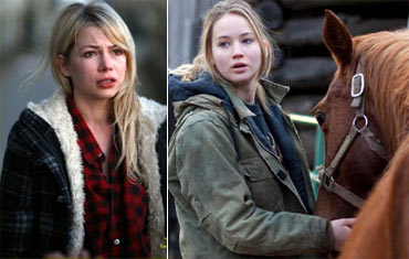 Michelle Williams in Blue Valentine and Jennifer Lawrence  in True Grit