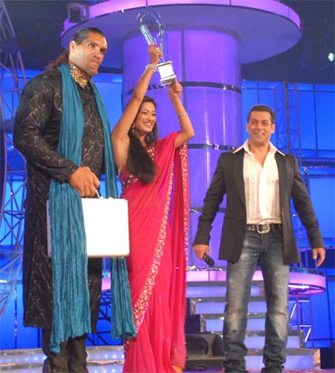 Khali, Shweta Tiwari and Salman Khan