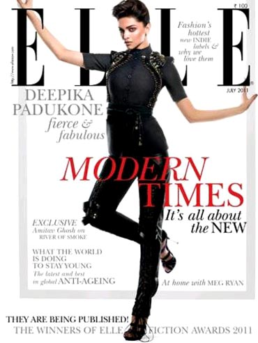Deepika Padukone on the cover of Elle magazine