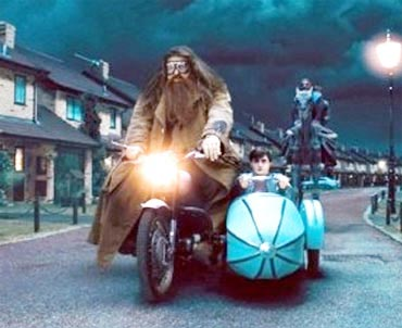 Rubeus Hagrid and Harry Potter