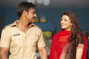 Ajay Devgn and Kajal Agarwal in Singham