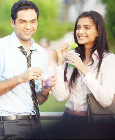 Abhay Deol with Sonam Kapoor in Aisha