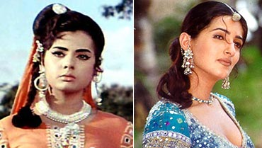 Mumtaz and Twinkle in Mela, old and new
