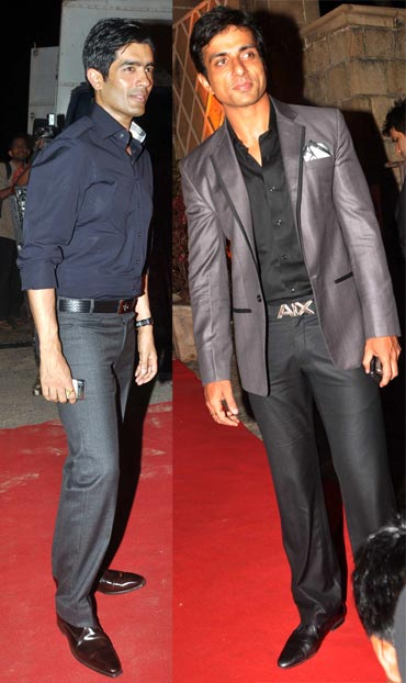 Manish Malhotra and Sonu Sood