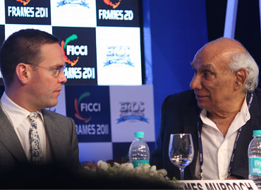 James Murdoch and Yash Chopra