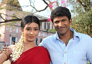Radhika and Puneet in Hudugaru
