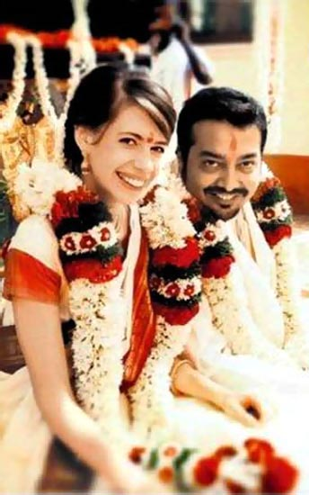 Kalki Koechlin and Anurag Kashyap at the wedding