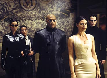 A scene from The Matrix Reloaded