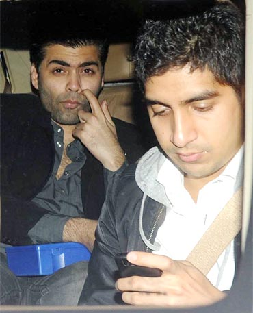 Karan Johar and Ayan Mukherjee