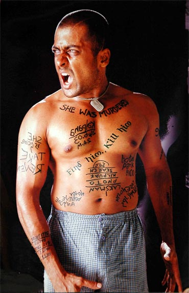 A still from Ghajini