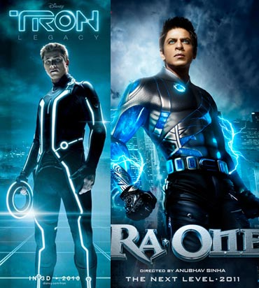The Tron Legacy and Ra.One posters