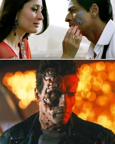 A scene from Ra.One and Terminator 2: Judgment Day