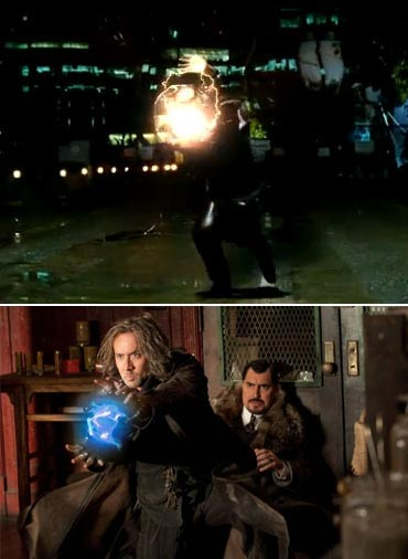 A scene from Ra.One and The Sorcerer s Apprentice